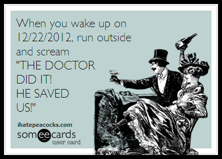 The Doctor did it!  He saved us!