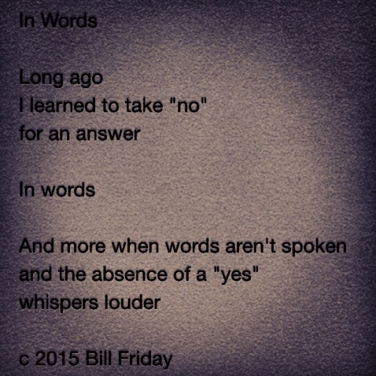 In Words c 2015 Bill Friday