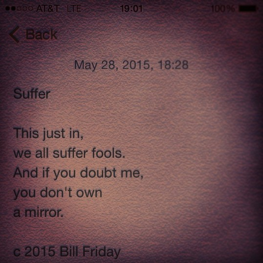 Suffer c 2015 Bill Friday
