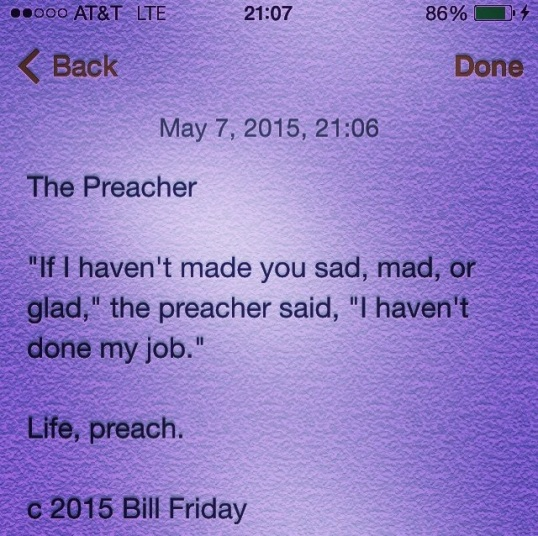 The Preacher c 2015 Bill Friday