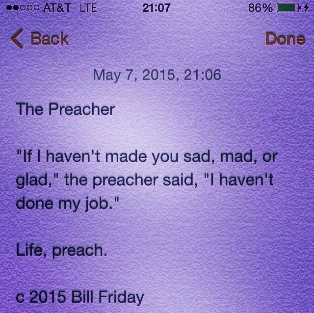 The Preacher c 2015 Bill Friday